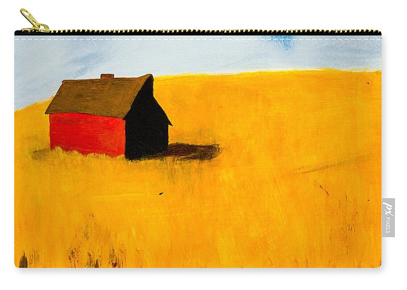 Barn Carry-all Pouch featuring the painting Barn by Stefanie Forck