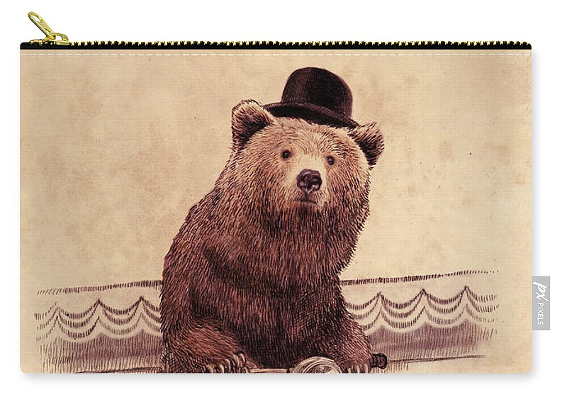 Bear Carry-all Pouch featuring the drawing Barnabus by Eric Fan