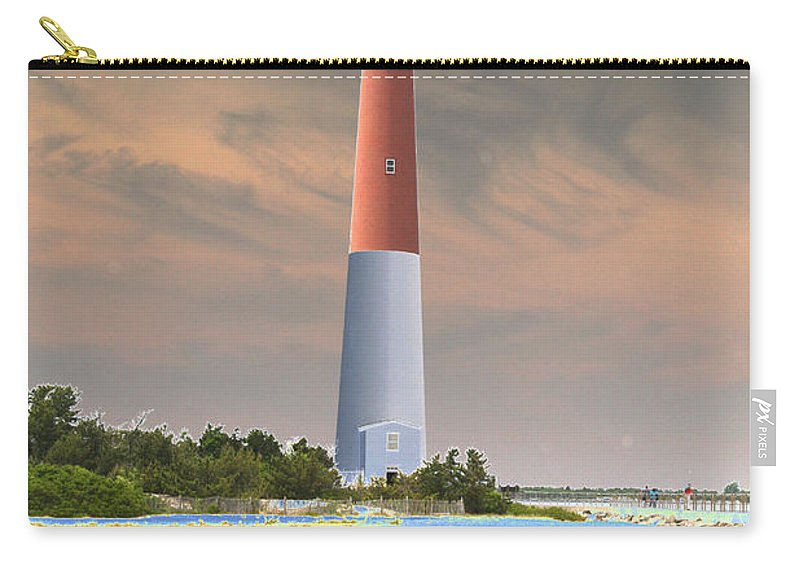 Lighthouse Carry-all Pouch featuring the photograph Barnegat Abstract by Christiane Schulze Art And Photography