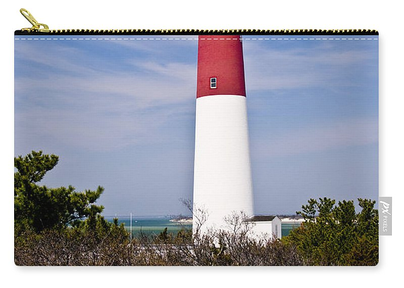 Nautical Carry-all Pouch featuring the photograph Barnegat Lighthouse by Anthony Sacco