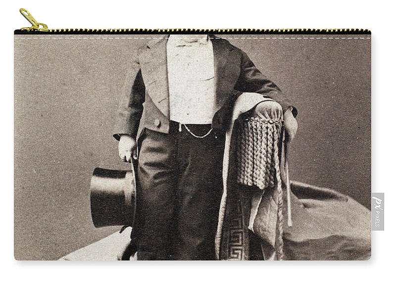 1870 Carry-all Pouch featuring the photograph Barnum Admiral Dot, C1870 by Granger