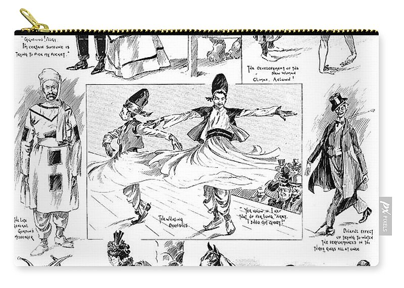 1898 Carry-all Pouch featuring the painting Barnum And Bailey, 1898 by Granger