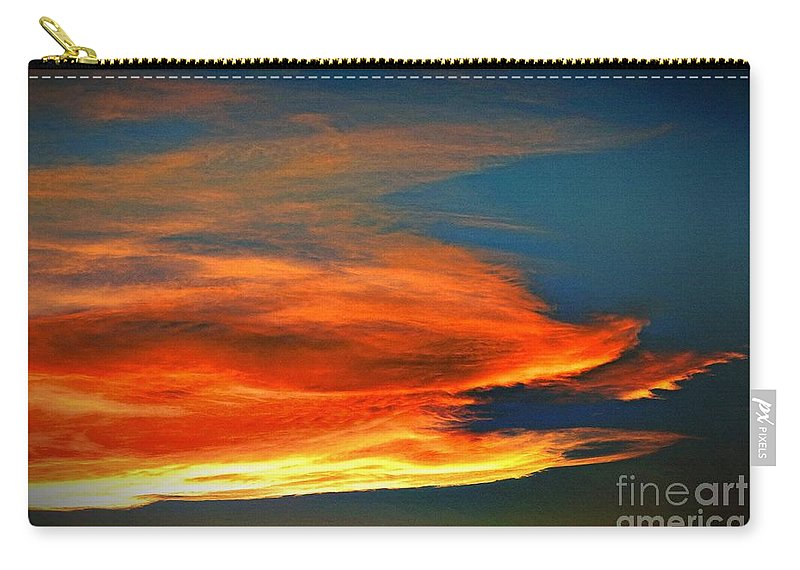 Barracuda Cloud Carry-all Pouch featuring the photograph Barracuda Cloud by Phyllis Kaltenbach