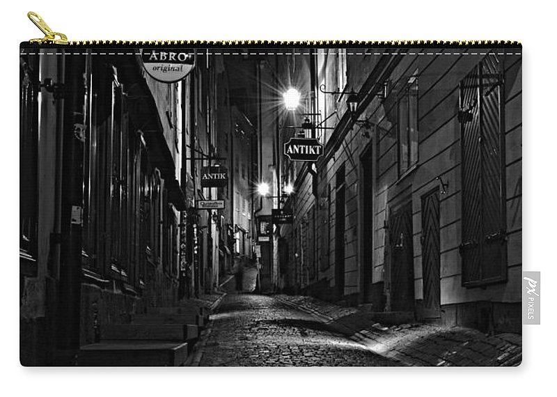 Bars Carry-all Pouch featuring the photograph Bars In The Alley by Steven Liveoak