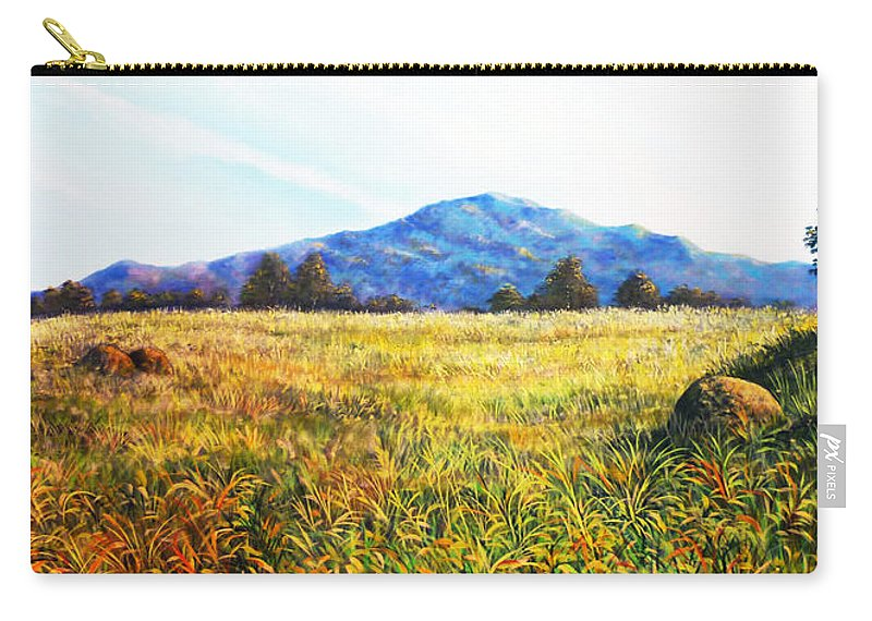 Landscape Carry-all Pouch featuring the painting Baru Descansa by Ricardo Sanchez Beitia