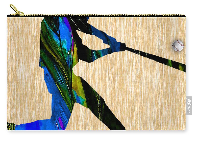 Baseball Carry-all Pouch featuring the mixed media Baseball Art by Marvin Blaine