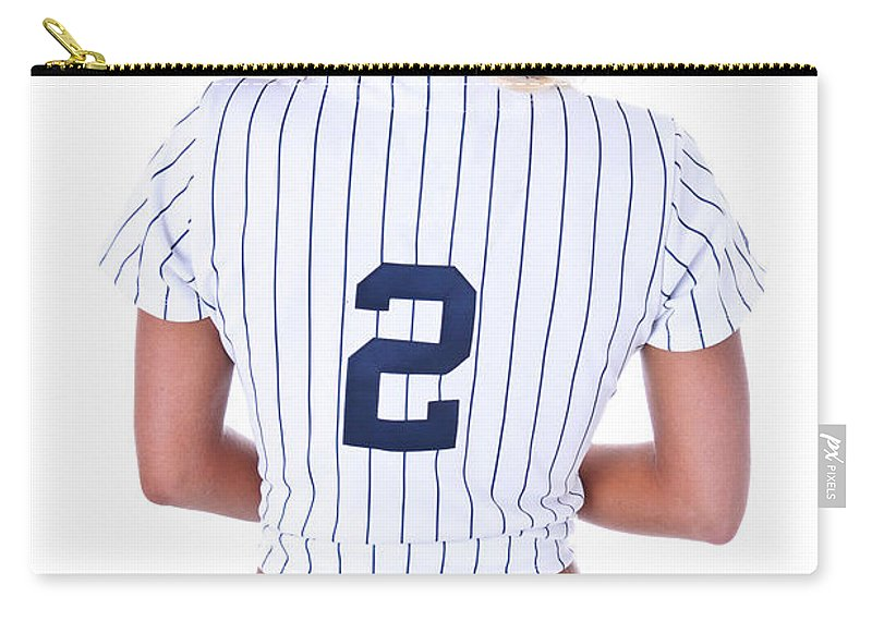 2 Carry-all Pouch featuring the photograph Baseball Girl 2 by Jt PhotoDesign