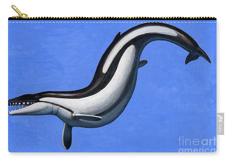 Illustration Technique Carry-all Pouch featuring the digital art Basilosaurus, A Marine Mammal That by H. Kyoht Luterman