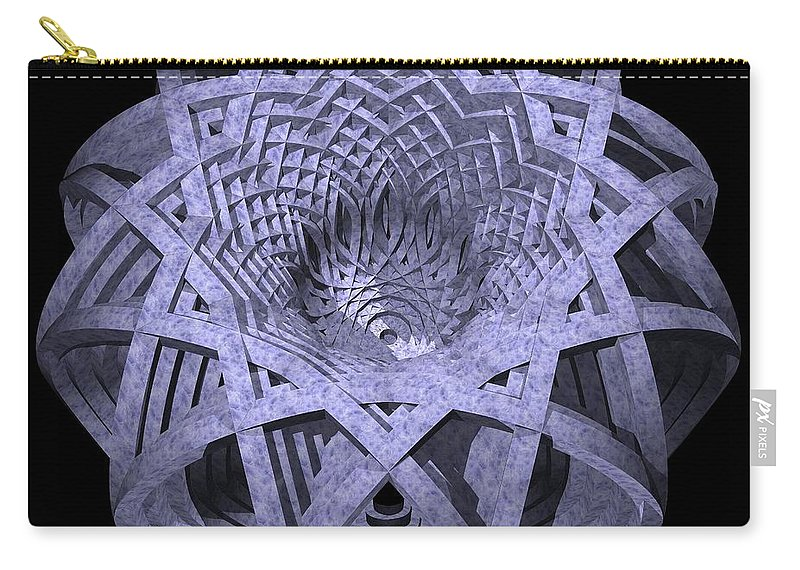 Hyperbola Carry-all Pouch featuring the digital art Basket Of Hyperbolae 01 by David Voutsinas