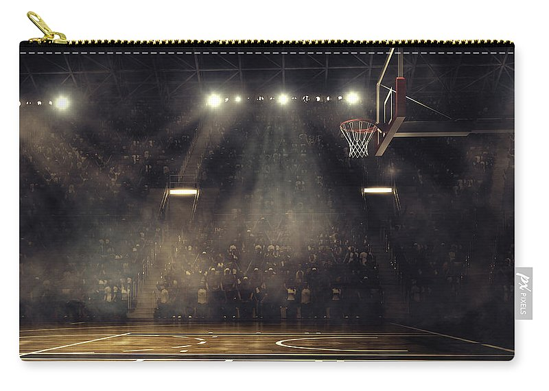 People Carry-all Pouch featuring the photograph Basketball Arena by Dmytro Aksonov
