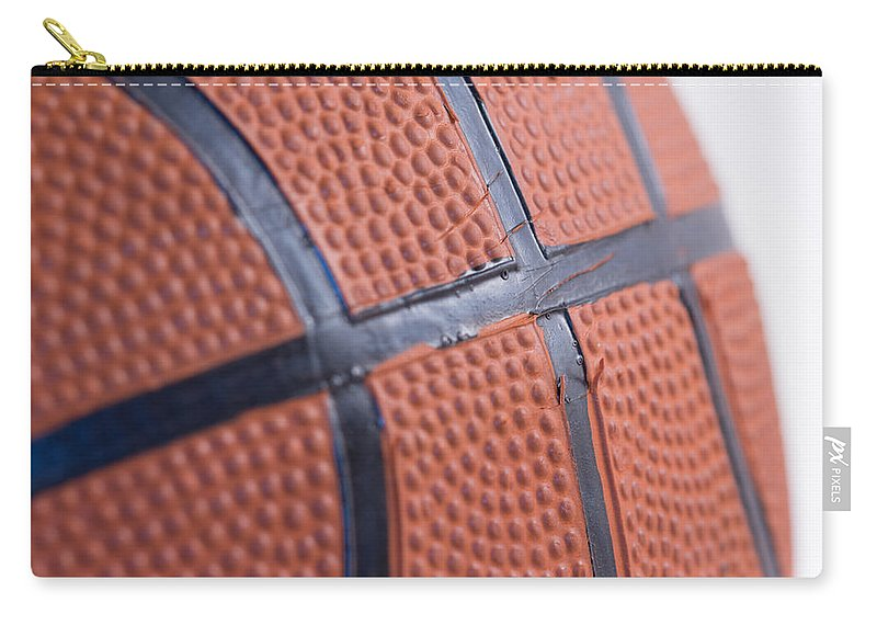 Basketball Carry-all Pouch featuring the photograph Basketball Study 4 by Kyra Savolainen