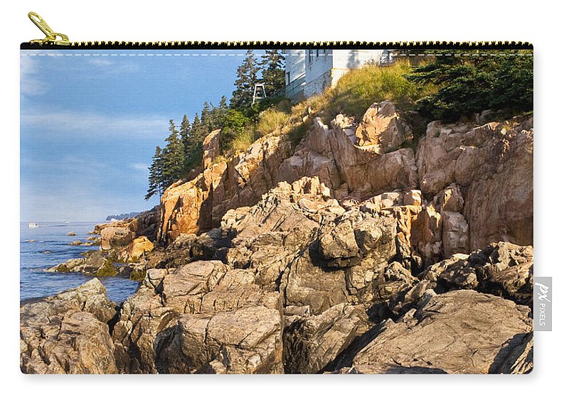Acadia Carry-all Pouch featuring the photograph Bass Harbor Lighthouse by Jerry Fornarotto