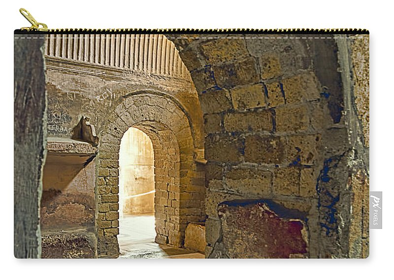 Archeology Carry-all Pouch featuring the photograph Bath House by Maria Coulson
