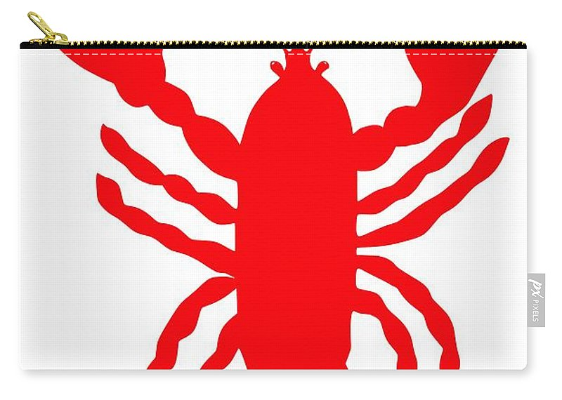 Bath Maine Lobster With Feelers Carry-all Pouch featuring the digital art Bath Maine Lobster With Feelers by Julie Knapp
