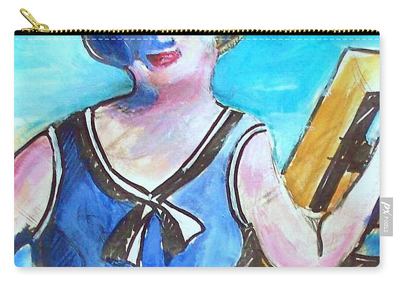 Beach Carry-all Pouch featuring the painting Bathing Suit Beauty Poster by Eric Schiabor