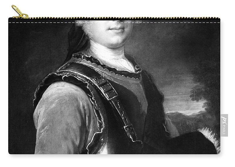 18th Century Carry-all Pouch featuring the painting Batoni Monsieur De Salle by Granger