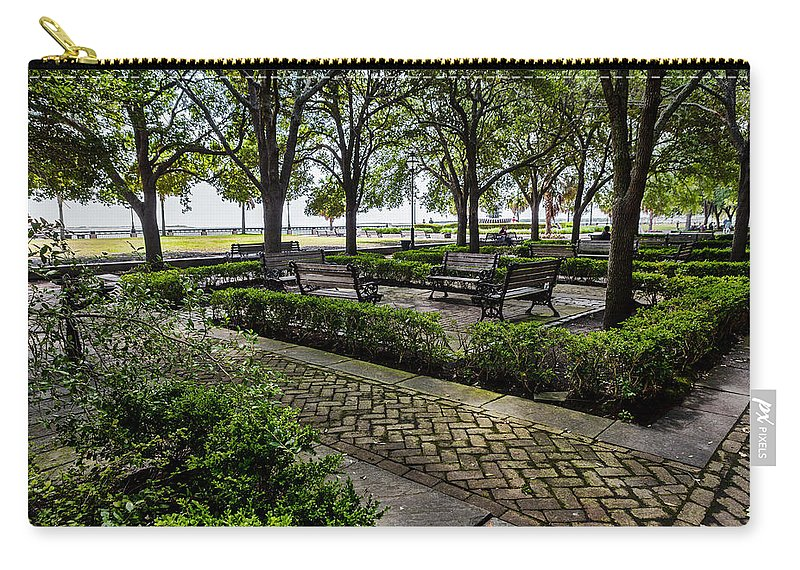 Battery Park Carry-all Pouch featuring the photograph Battery Park by Sennie Pierson