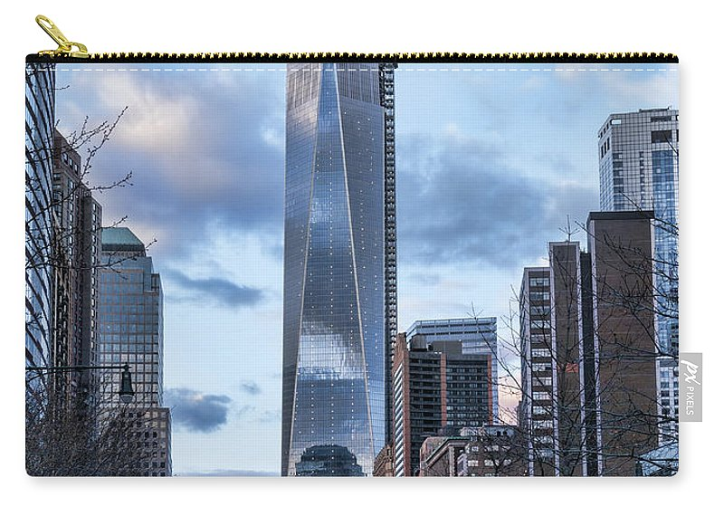 1wtc Carry-all Pouch featuring the photograph Battery Park Walk by S Paul Sahm
