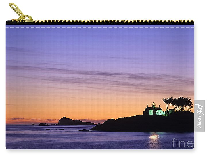 Landscape Carry-all Pouch featuring the photograph Battery Point Lighthouse by Jim Corwin