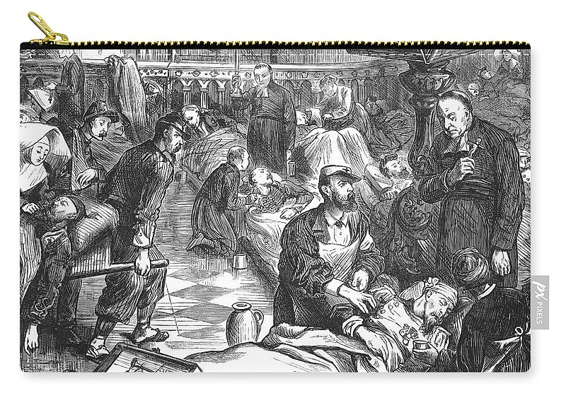 1870 Carry-all Pouch featuring the photograph Battle Of Sedan, 1870 by Granger