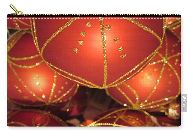 Baubles Carry-all Pouch featuring the photograph Baubles 2 by Rosita Larsson
