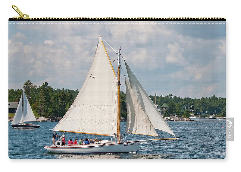 Boat Carry-all Pouch featuring the photograph Bay Lady 1270 by Guy Whiteley