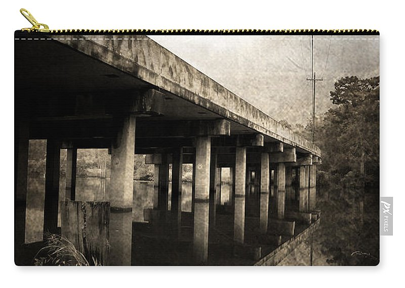 Water Carry-all Pouch featuring the photograph Bay View Bridge by Scott Pellegrin