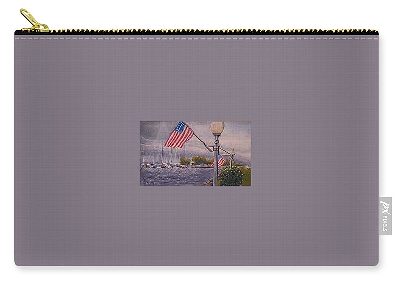 Rick Huotari Carry-all Pouch featuring the painting Bayfield On The 4th by Rick Huotari