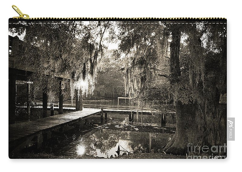 Swamp Carry-all Pouch featuring the photograph Bayou Evening by Scott Pellegrin