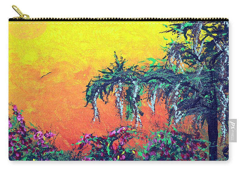 Landscape Carry-all Pouch featuring the painting Bayou Honeymoon by Alys Caviness-Gober