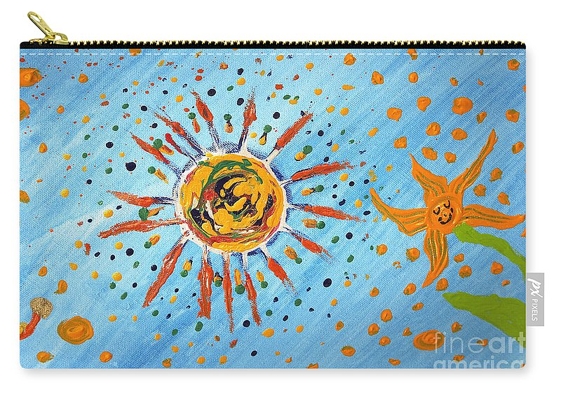 Munich Heart Carry-all Pouch featuring the painting Be Like The Sun by Heidi Sieber