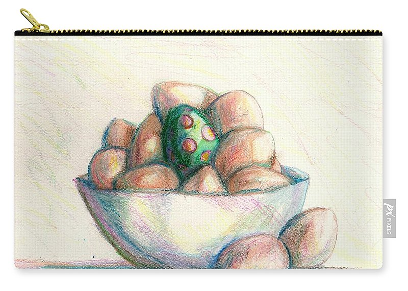 Eggs Carry-all Pouch featuring the drawing Be Yourself by Shana Rowe Jackson
