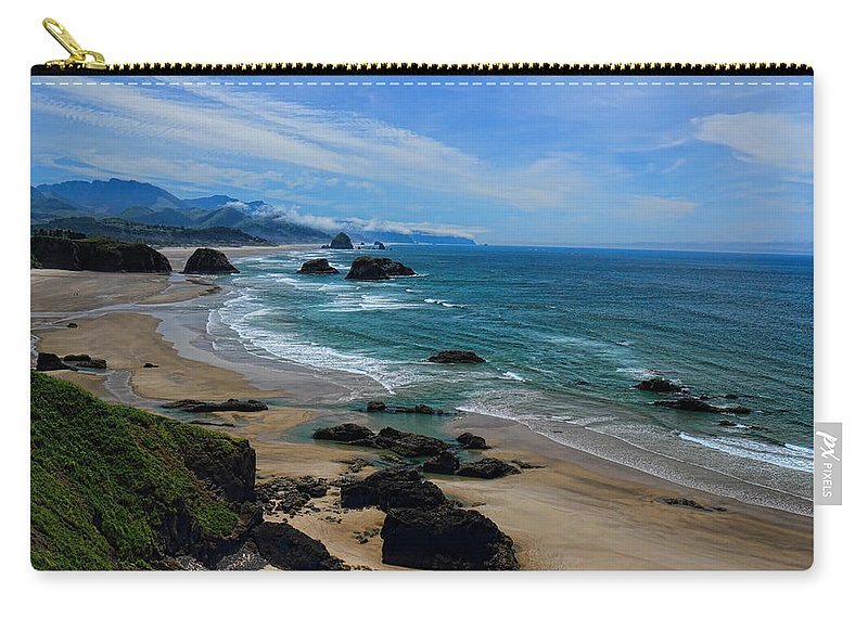Dale Kauzlaric Carry-all Pouch featuring the photograph Beach At Ecola State Park by Dale Kauzlaric