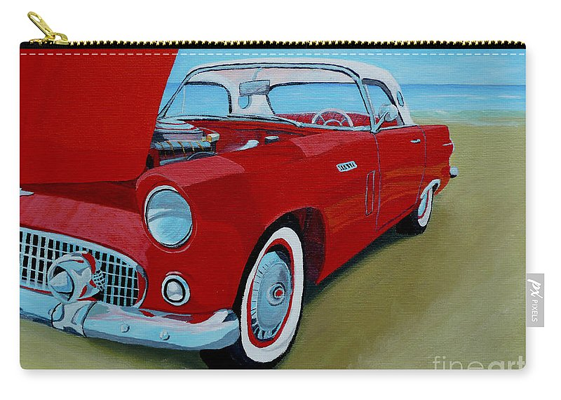 Car Carry-all Pouch featuring the painting Thunder Bird by Anthony Dunphy