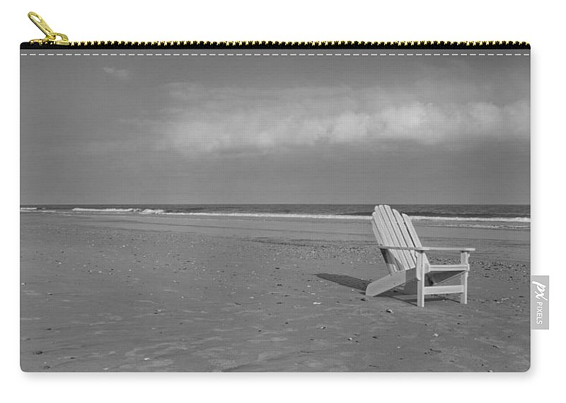 Adirondack Carry-all Pouch featuring the photograph Beach Chair by Betsy Knapp