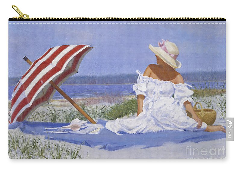 Impressionist Carry-all Pouch featuring the painting Beach Dreams by Candace Lovely