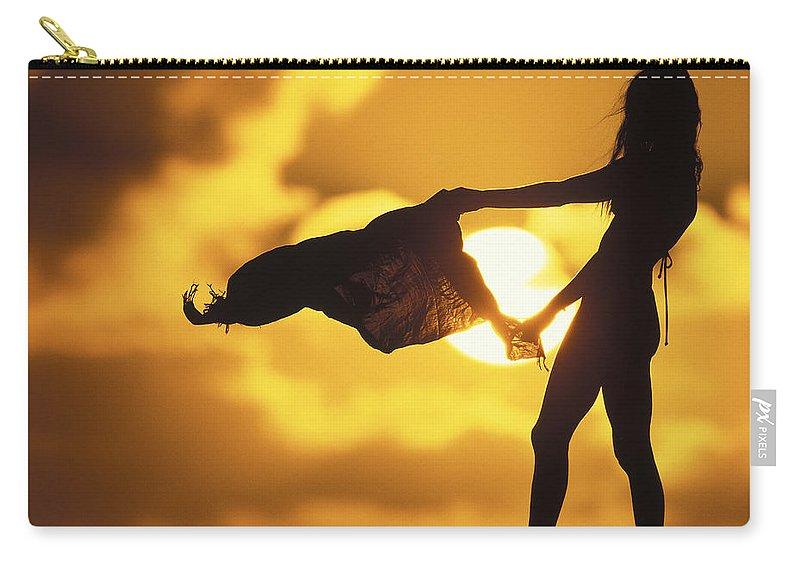 Beach Girl Carry-all Pouch featuring the photograph Beach Girl by Sean Davey