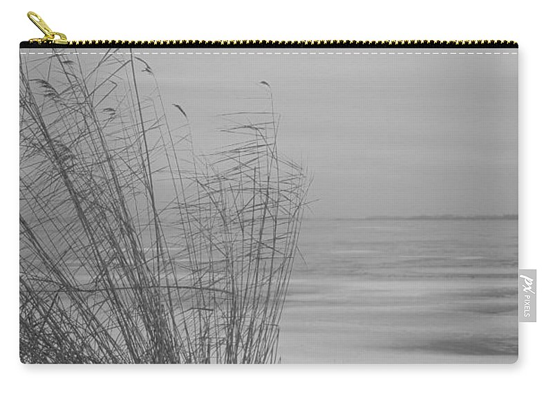 Island Of Ruegen Carry-all Pouch featuring the photograph Beach Grass In The Snow by Ralf Kaiser