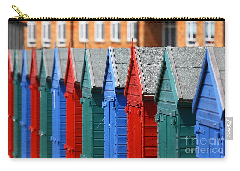 England Carry-all Pouch featuring the photograph Beach Huts 1 by James Brunker