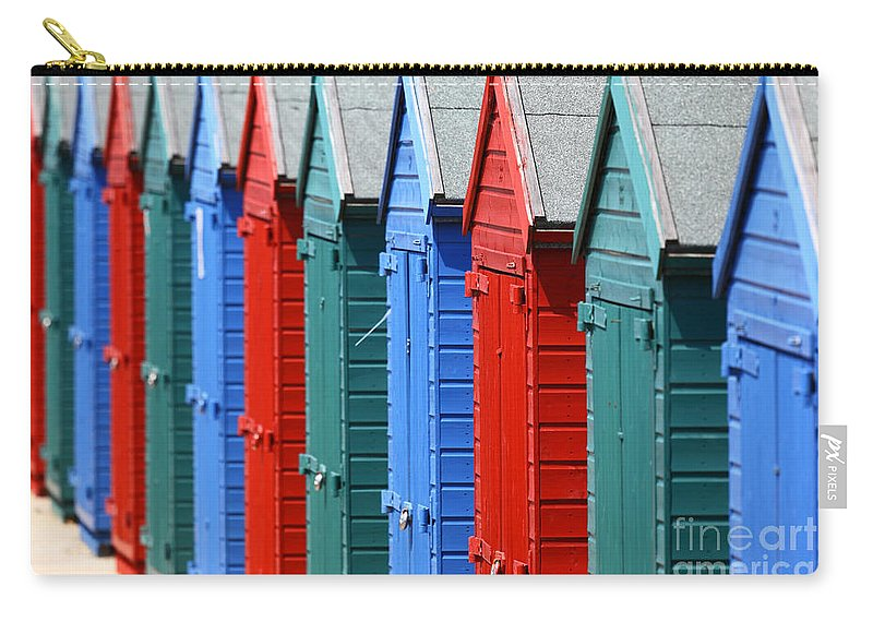 Beach Huts Carry-all Pouch featuring the photograph Beach Huts 2 by James Brunker