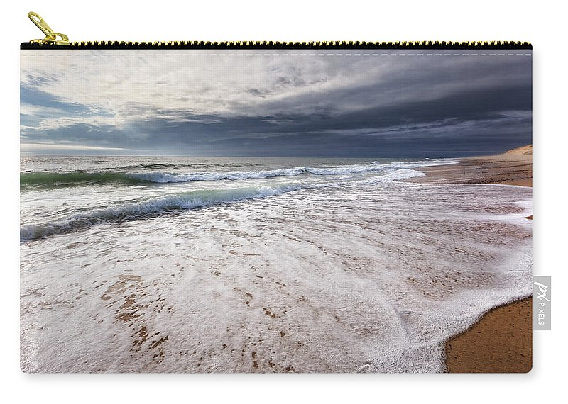 Beach Carry-all Pouch featuring the photograph Beach Morning by Bill Wakeley