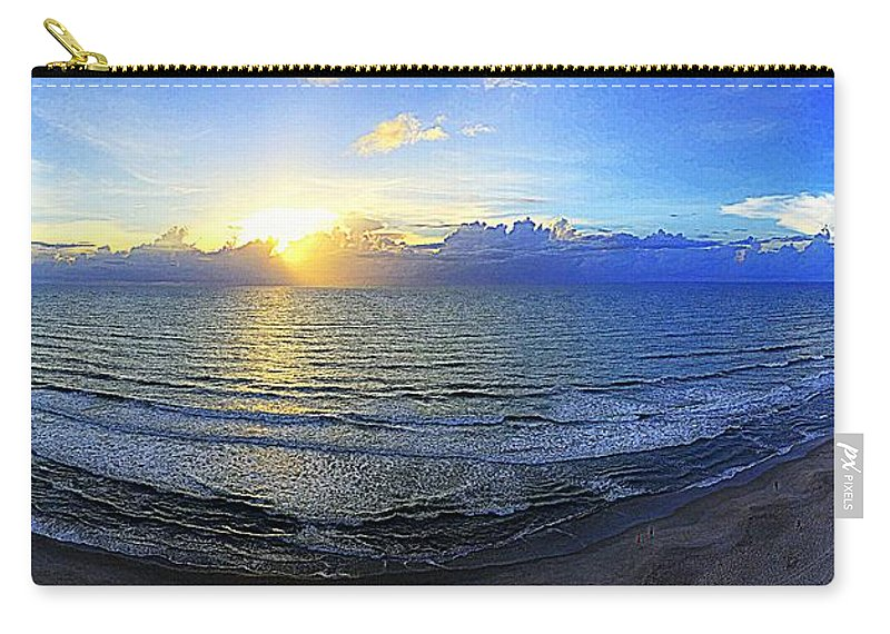 Beach Carry-all Pouch featuring the photograph Beach Panorama by Paul Wilford