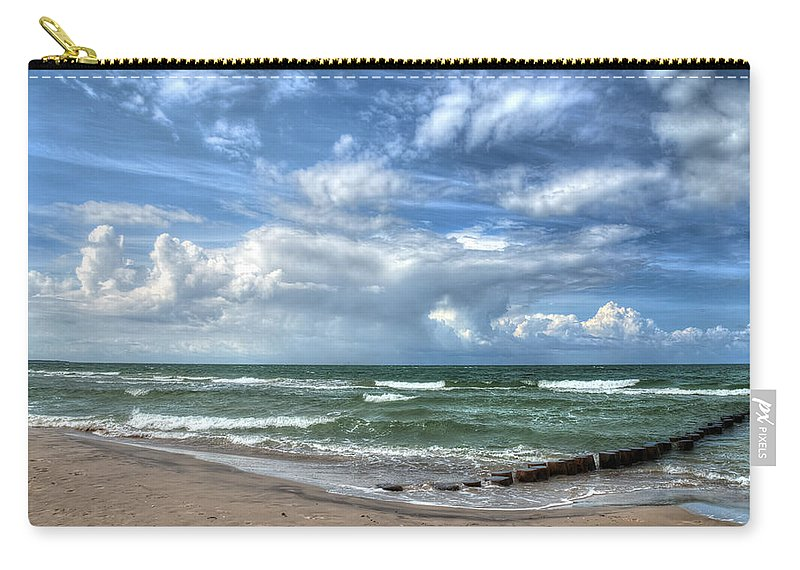Ostsee Carry-all Pouch featuring the pyrography Beach Prerow by Steffen Gierok
