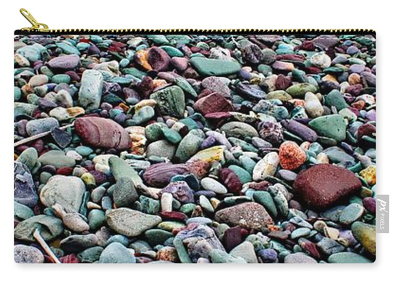 Beach Rocks Horizontal Carry-all Pouch featuring the photograph Beach Rocks Horizontal by Barbara Griffin