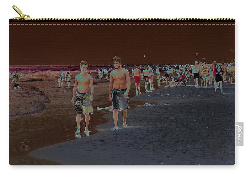 Horizontal Carry-all Pouch featuring the photograph Beach Solar Series Vii Usa by Sally Rockefeller