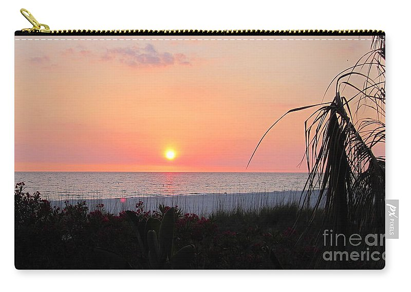 Sunset Carry-all Pouch featuring the photograph Beach Sunset by Megan Cohen