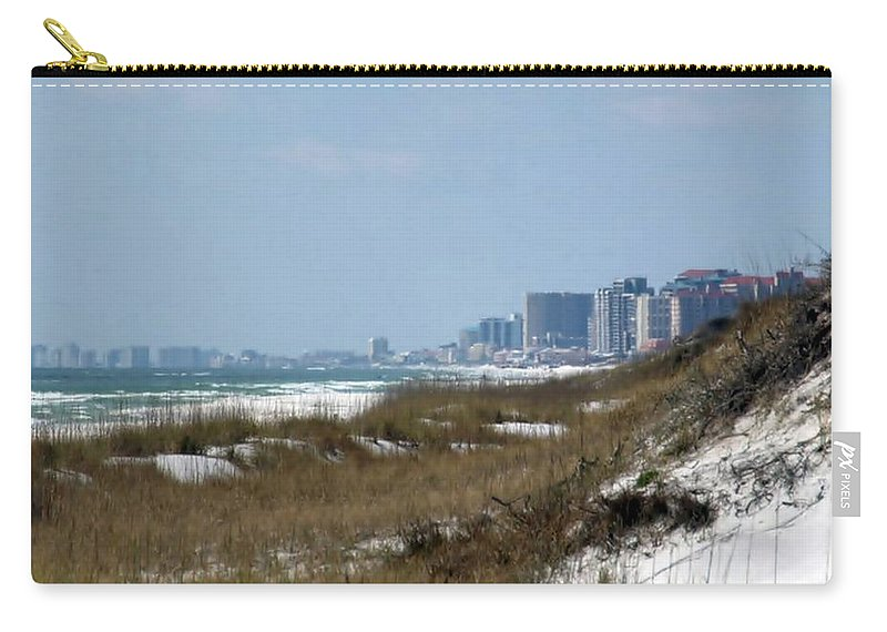 Beach Carry-all Pouch featuring the photograph Beach To City by Jo Jurkiewicz