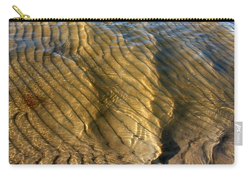 Abstract Carry-all Pouch featuring the photograph Beach Wave Pattern. by Jan Brons