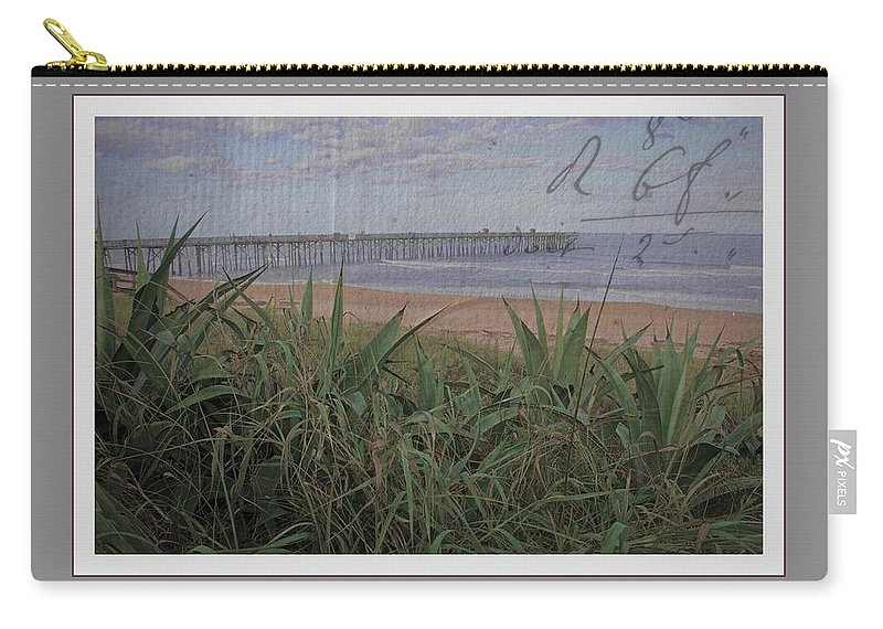 Beach Carry-all Pouch featuring the photograph Beach Writing by Alice Gipson