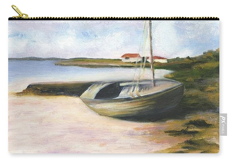 Beach Carry-all Pouch featuring the painting Beached by Deborah Butts